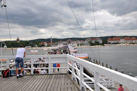 Auf der Seebrücke von Zoppot (Foto: Martin Dühning)