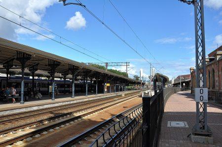 Blick auf die Gleise des alten Bahnhofs (Foto: Martin Dühning)