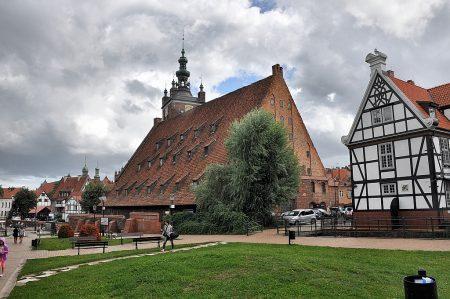 Blick vom Hevelius-Platz auf die Große Mühle von Danzig (Foto: Martin Dühning)