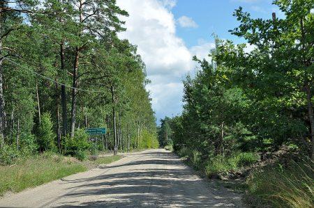 Geschotterte Landstraße vor Berent (Foto: Martin Dühning)