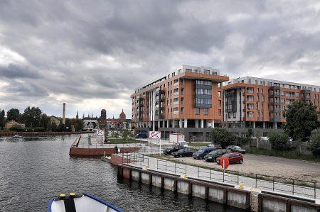 Neues Hotelgebäude am Rande der Rechtstadt von Danzig (Foto: Martin Dühning)