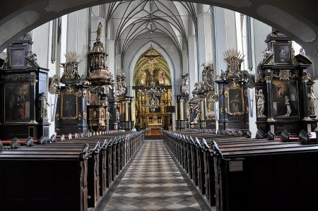 Innenraum der Nikolaikirche in Danzig (Foto: Martin Dühning)