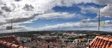 Panoramaausblick vom Turm der Marienkirche auf die Stadt Danzig (Foto: Martin Dühning)