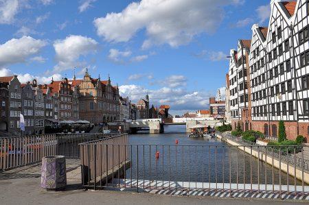 Blick auf den Kanal bei der Promenade in Danzig (Foto: Martin Dühning)