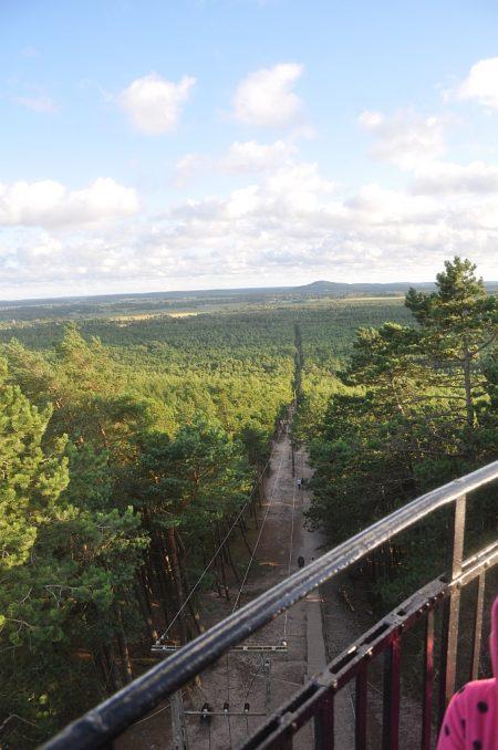 Blick vom Leuchtturm auf den Abstieg (Foto: Martin Dühning)