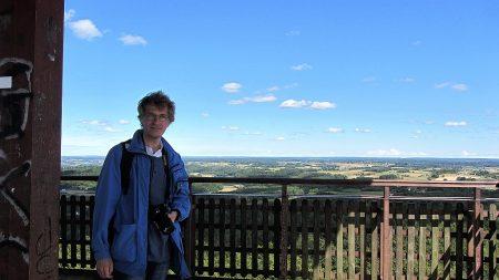 Oben auf dem Aussichtsturm (Foto: Salome Leinarkunion)