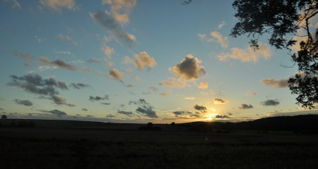 Slowinzischer Sonnenuntergang - das Ende eines Ausflugstages (Foto: Martin Dühning)