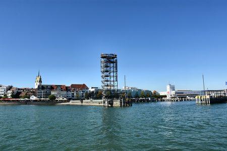 Die Hafeneinfahrt von Friedrichshafen am 7. September 2016 (Foto: Martin Dühning)