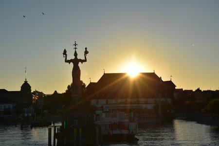 Sonnenuntergang bei Konstanz (Foto: Martin Dühning)