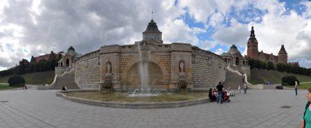 Brunnen vor der Hakenterrasse in Stettin (Foto: Martin Dühning)