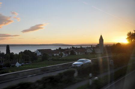 Sonnenuntergang kurz vor Meersburg (Foto: Martin Dühning)