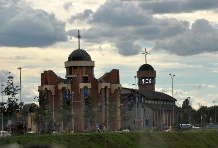 Kirche in einem Vorort von Stettin (Foto: Martin Dühning)