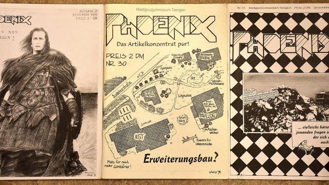 Die Cover der Phoenix-Ausgaben 29, 30, 31 waren wieder monochrom und im Formfaktor DinA4 gehalten (Foto: Martin Dühning)