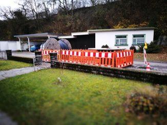 Anfang Dezember 2016 erreichte die Glasfaser mein Wohnhaus - für mich persönlich viel zu spät (Foto: Martin Dühning).