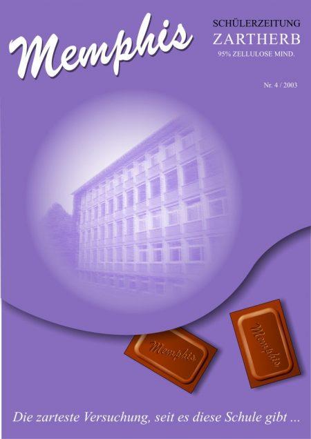 Das Cover der Schülerzeitung Memphis Nr. 4 am Hochrhein-Gymnasium 2003 (Grafik: Martin Dühning)