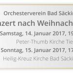 Orchesterkonzert nach Weihnachten
