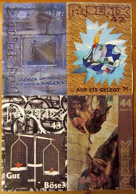 Die Phoenixausgaben Nr. 41-44 zeigten das Ende einer Ära an: Die Seitenzahl sank drastisch, auch die Auflage, aber immerhin blieben die Farbcover (Foto: Martin Dühning)