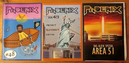 Ab der Phoenix Nr. 48 (2. Versuch) bestimmten zunehmend eine neue Phoenix-Generation den weiteren Flug des Phoenix: Die Ära von Chefredakteur Jan begann und eine neue Blüte der Schülerzeitung (Foto: Martin Dühning)
