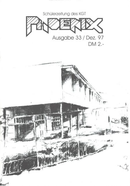 Das Cover der Phoenix Nr. 33 - der Abschiedsausgabe von Chefredakteur Philip Sandrock zeigt eine Zeichnung des neuen E-Baus am KGT
