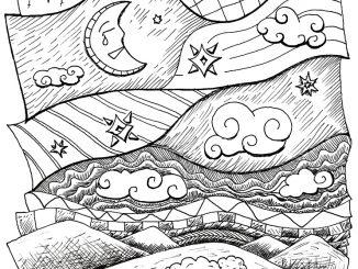 Naive geometrische Depression mit Schaf - hier als Skizze (Grafik: Martin Dühning)