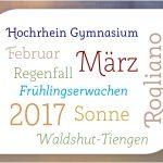 Schriftenspielereien im März 2017