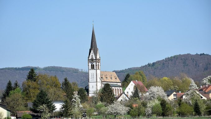 St. Peter und Paul in Grießen, fotografiert am Palmsonntag 2017, 9. April (Foto: Martin Dühning)