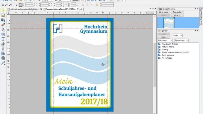 Coverentwurf zum Hausaufgabenplaner 2017/2018 (Grafik: Martin Dühning)
