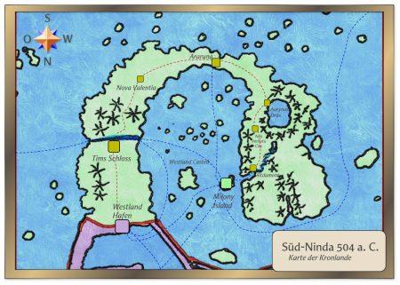 Karte des Distrikts Kronlande der Vereinigten Provinzen von Südninda 504 a. C.