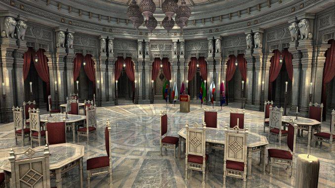 Ballsaal in der Curia von Ventadorn (Grafik: Martin Dühning)