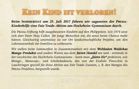 Artikel zur Fair Trade Aktion am Hochrhein-Gymnasium, gesetzt in der Schriftart NCT Granite (Grafik: Martin Dühning)