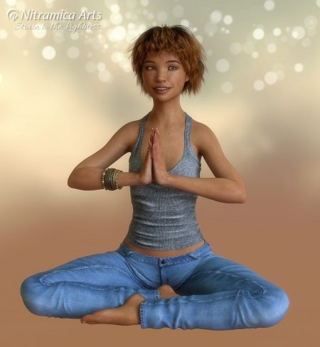Junia, meditierend (Grafik: Martin Dühning)