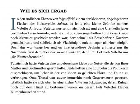 Der Anfang der Erzählung Wie es sich ergab, gelayoutet in der Schriftart TT Jenevers (Text und Grafik: Martin Dühning)