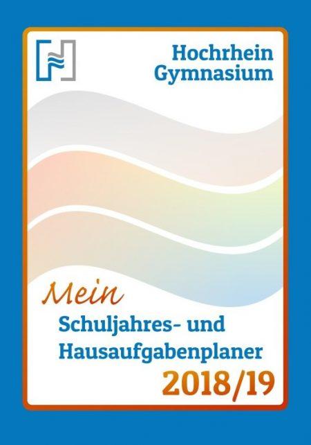 Cover des Schul- und Hausaufgabenplaners 2018/19 am Hochrhein-Gymnasium (Grafik: Martin Dühning)