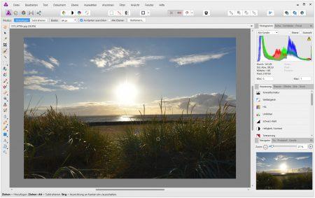 Affinity Photo - hier in Version 1.6 - von Affinity bietet zusammen mit seinen Geschwistern Designer und Publisher professionelle Grafikfunktionen (Foto: Martin Dühning).