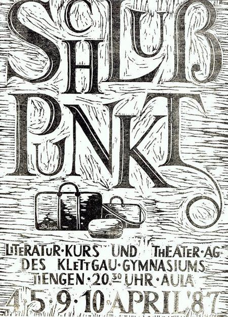 "Theaterplakat zu ""Schlußpunkt"" (1987)"