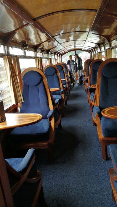 First Class Abteil in der Ffestiniog Railway (Foto: Martin Dühning)