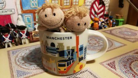Heimische Zwergfeen inspizieren die Manchester-Tasse (Foto: Martin Dühning)