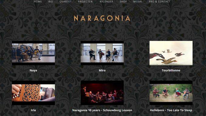 Musikvideos auf der offiziellen Webseite von Naragonia