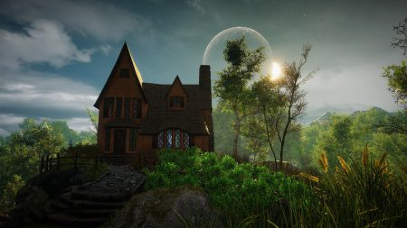 Berghotel mit Aussicht mal anders in Eastshade (Screenshot)