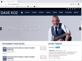 Webseite des Saxophonisten Dave Koz (Screenshot)