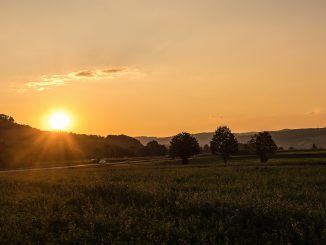 Sonnenuntergang Ende August 2019 (Foto: Martin Dühning)
