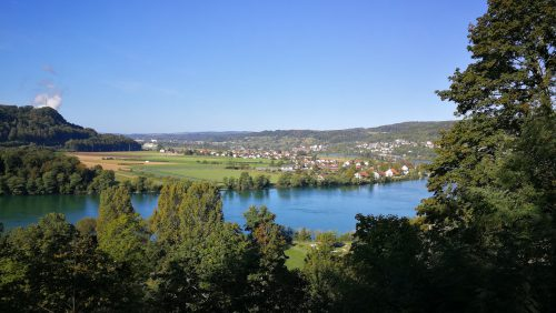 Rhein bei Waldshut im September 2019 (Foto: Martin Dühning)