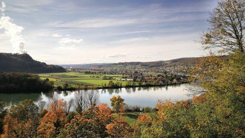 Herbstlicher Hochrhein bei Waldshut (Foto: Martin Dühning)
