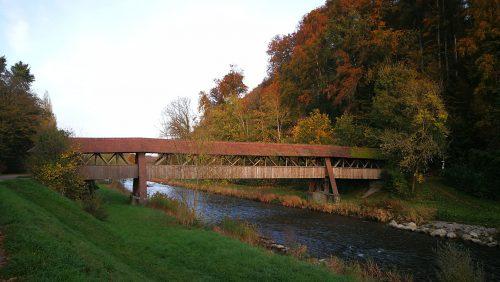 Wutachbrücke bei Tiengen im Oktober 2019 (Foto: Martin Dühning)