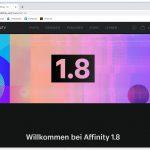 Affinity in Version 1.8 erschienen!