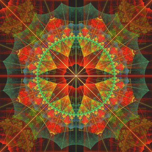 Fraktaler Kompass-Stern, ursprünglich in Apophysis 7X geschaffen, nun in Chaotica 1.5.8 gerendert (Foto: Martin Dühning)