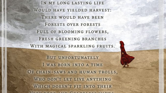 Forced Deforestation - Visual Poem