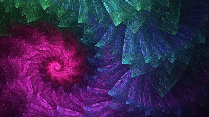 """Spiral of Hope"" - gerendert mit Chaotica 1.5.8 (Grafik: Martin Dühning)"
