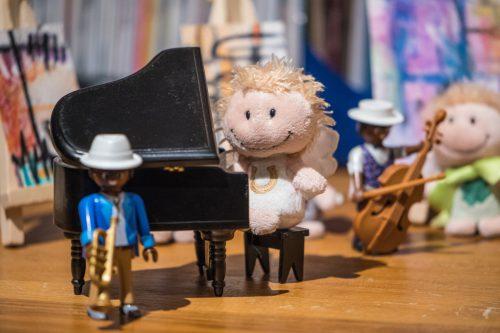Una Niva am Piano mit ihrem Jazztrio (Foto: Rosa Dudelspru)