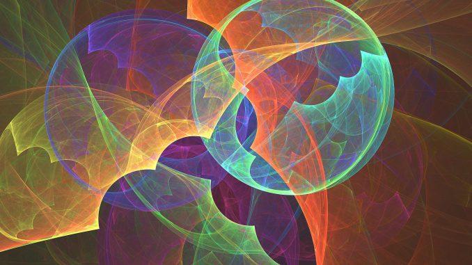 Frühlingsfraktal in herbstlichen Farben (Grafik: Martin Dühning)